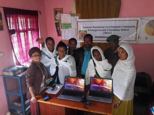 JRDC Teachers appreciative of gift of 2 Lap Tops by Ghetto Youth Foundation (1)